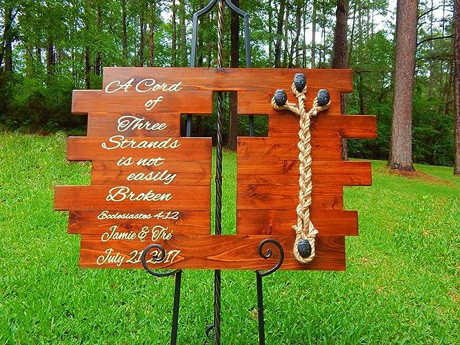 Amazon com: Rustic Wedding Sign, Unity Wedding Braids, Cord