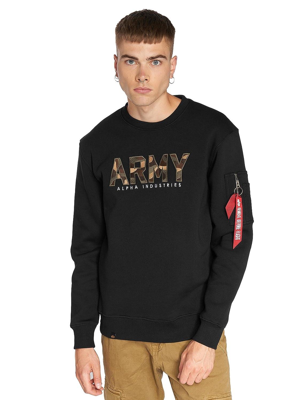 Alpha Industries Army Camo Sweatshirt Schwarz Camouflage S