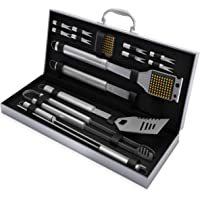 BBQ Grill Tool Set- 16 Piece Stainless Steel Barbecue Grilling Accessories with Aluminum Case,