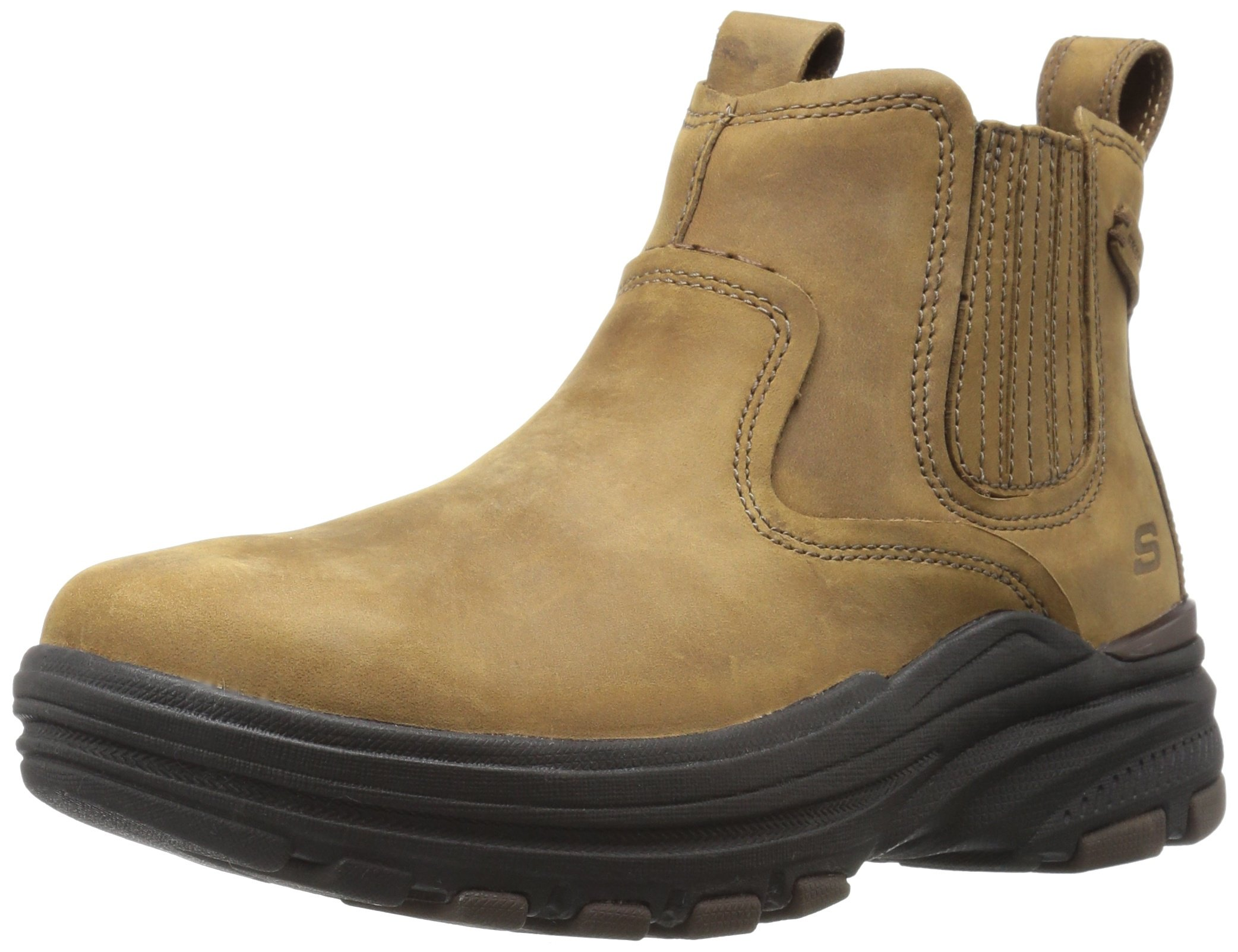 Skechers USA Men's Holdren Volsent Chukka Boot,Light Brown,6.5 M US by Skechers