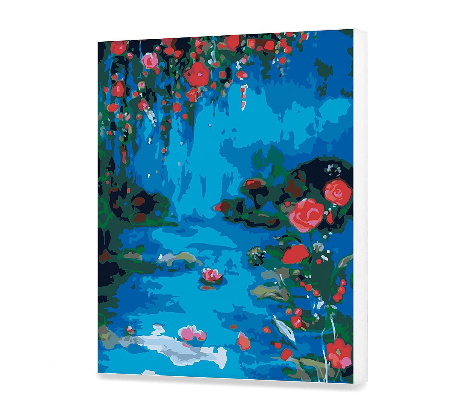 Water Lilies Paint By Numbers For Adults Beautiful Acrylic Water Painting On Canvas Lake Paint By Your Own Pond DIY Kit Oil Wall Art Decoration
