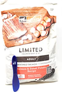 Simply Nourish Adult Sweet Potato and Salmon Dry Dog Food 11lbs and Especiales Cosas Mixing Spatula