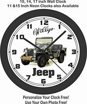 amazon jim s classic clocks 1951 williys military jeep big 10 2017 Jeep Wrangler amazon jim s classic clocks 1951 williys military jeep big 10 inch wall clock free usa ship home kitchen