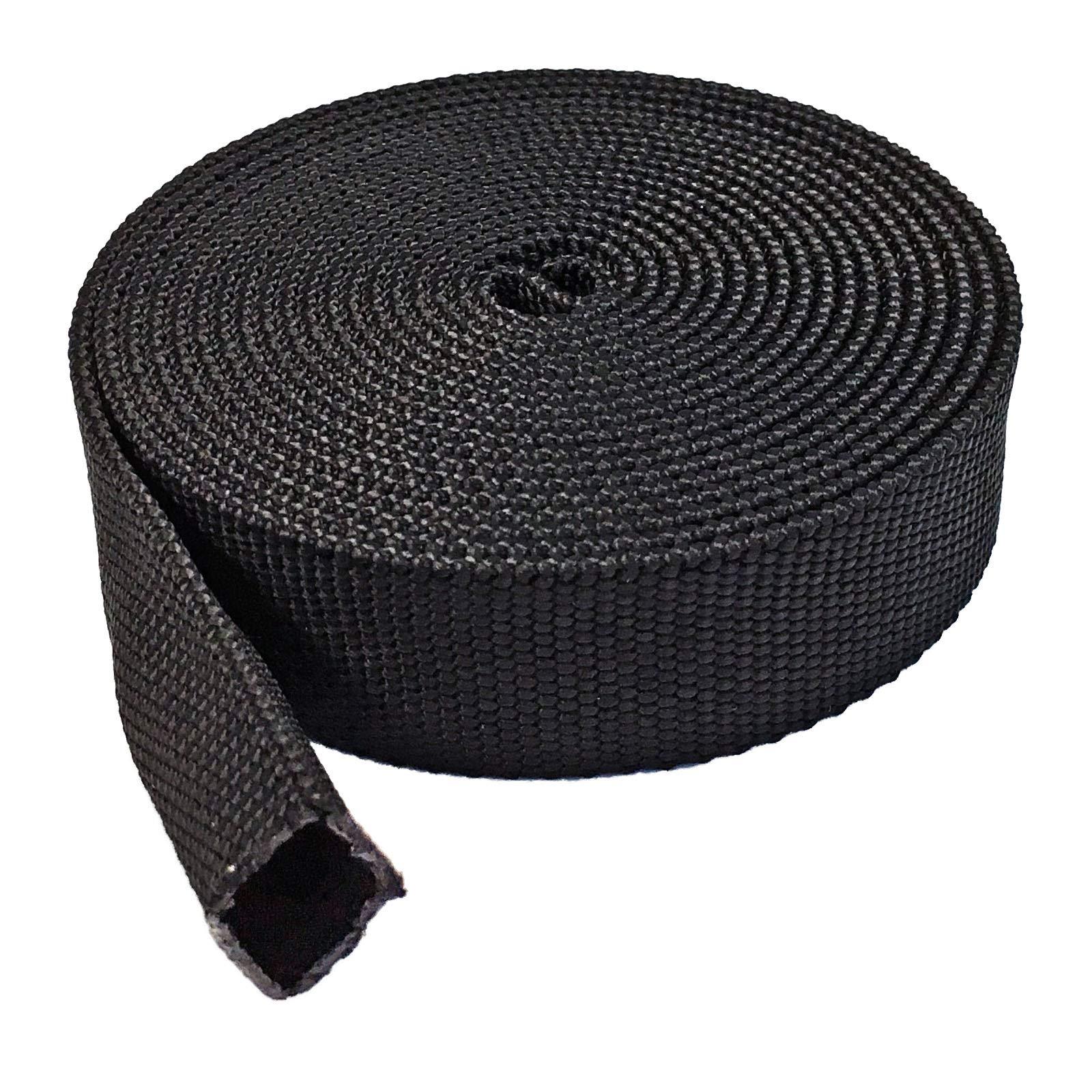 Electriduct 2'' Nylon Protective Hose Sleeve - 100ft Black