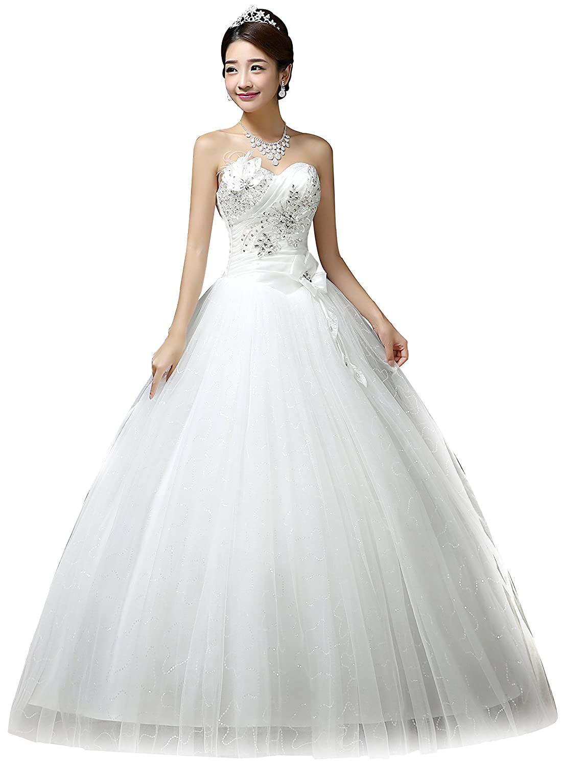 Pleated Ball Gown Wedding Dress