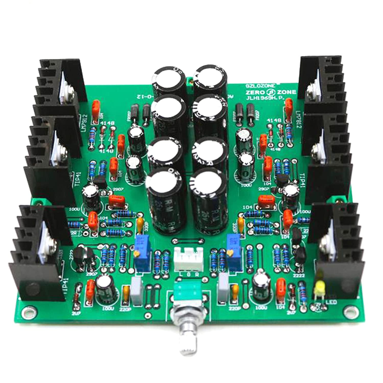 New Jlh Hood1969 Class A Headphone Amplifier Finished Lm7812 Lm7912 Circuit Board Preamplifier Musical Instruments