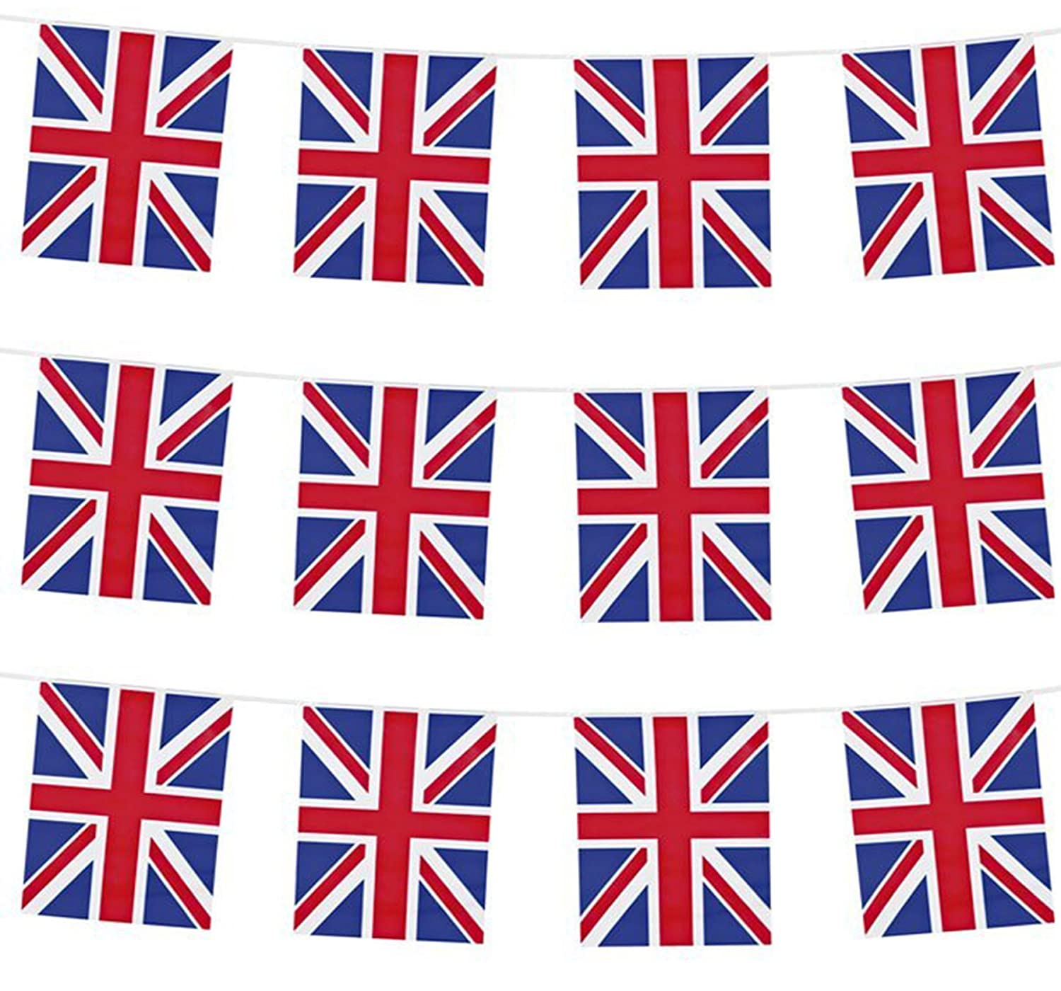 Uk Union Jack Bunting Flags  Great For Garden Parties