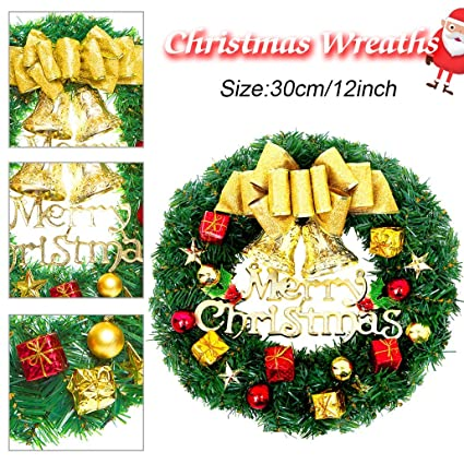 Amazon Com Iphonepassteck Christmas Wreath Christmas Decorations