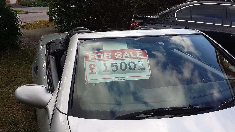 Cartel, modelo coche en venta, color rojo: Amazon.es: Coche ...
