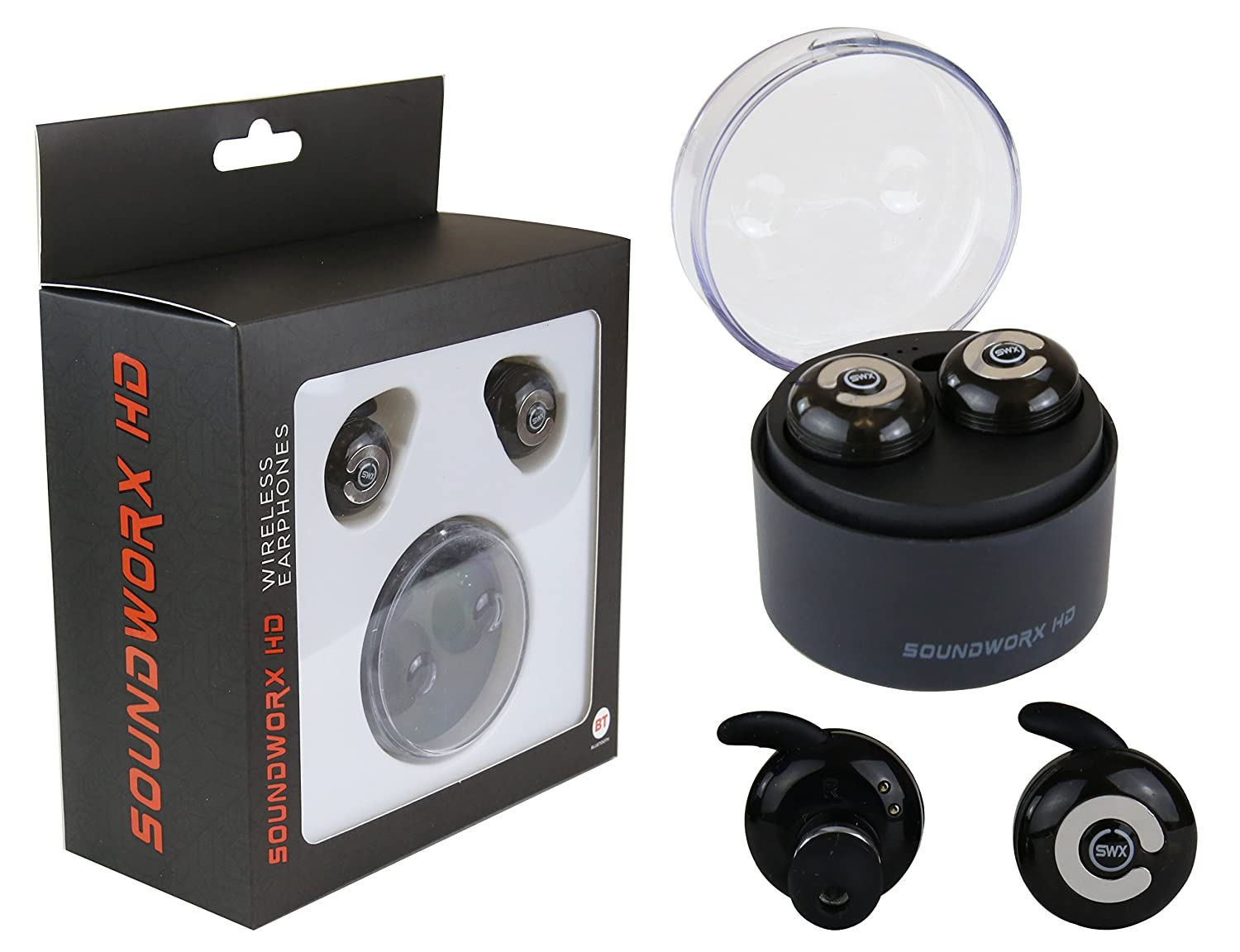 Amazon.com: Audifonos Inalambricos con Alcance de 130 pies, Bluetooth V4.1 con Microfono y Base Cargadora: Home Audio & Theater