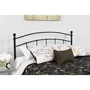 Flash Furniture Woodstock Decorative Black Metal Full Size Headboard