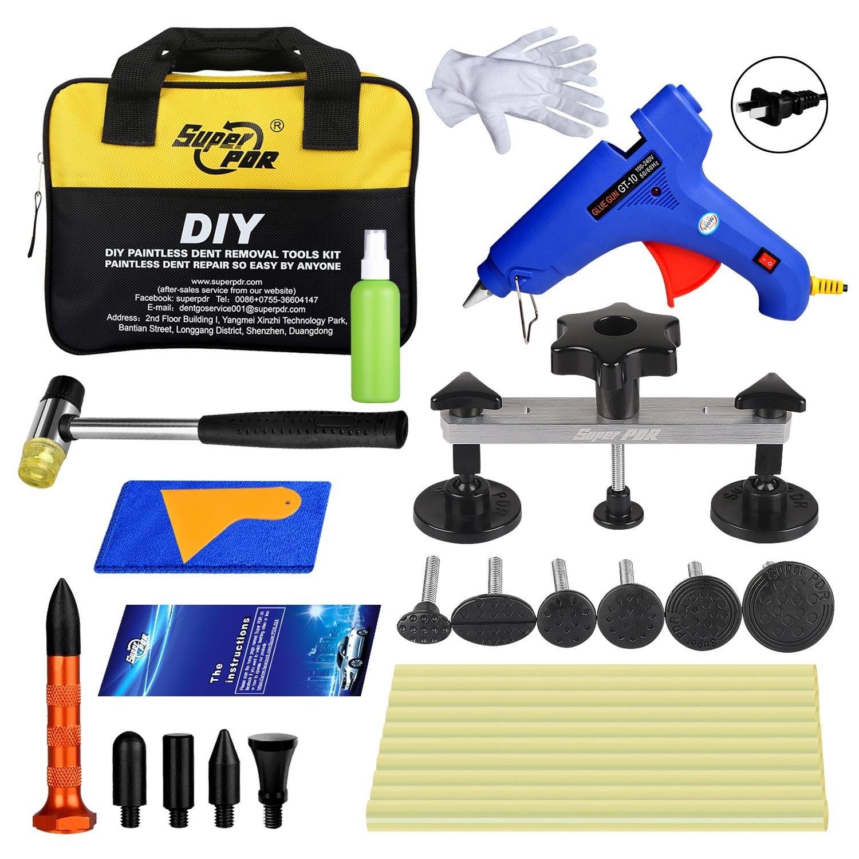Super PDR 20pcs Dent Puller Dent Repair Kits Suction Cup Pop a Dent Piantless Tools