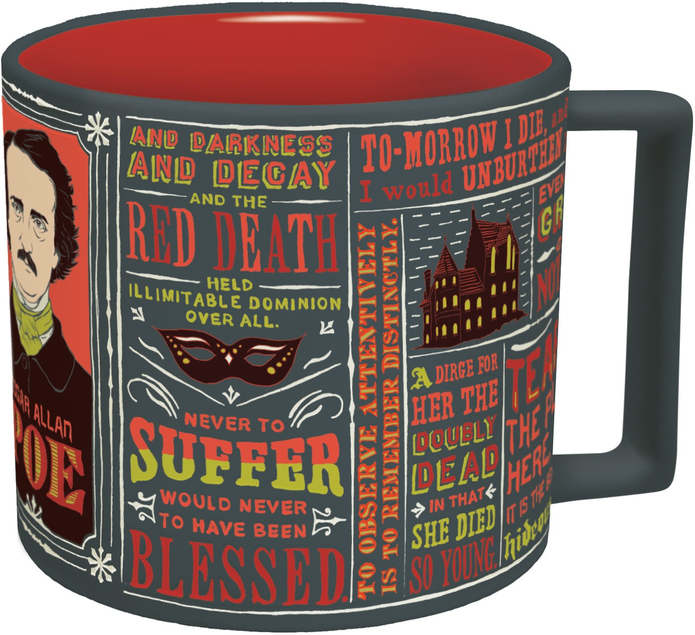 Amazon Edgar Allan Poe Coffee Mug Poes Most Famous Quotes