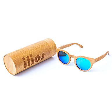 Amazon.com: Ilios - Gafas de sol polarizadas de bambú para ...