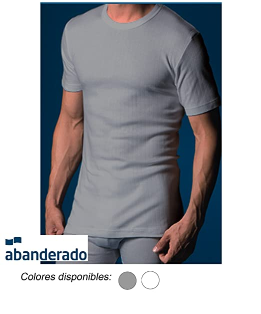5b7d693b3d6bc ABANDERADO - Camiseta Térmica De Manga Corta Y Cuello Redondo para hombre   Amazon.es  Ropa y accesorios