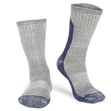 Yolev Calcetines de Senderismo de Lana para Hombre, Calcetines de Bota Cálido Absorción de Humedad para Esquí en Invierno (6.5-8.5, Blue): Amazon.es: ...