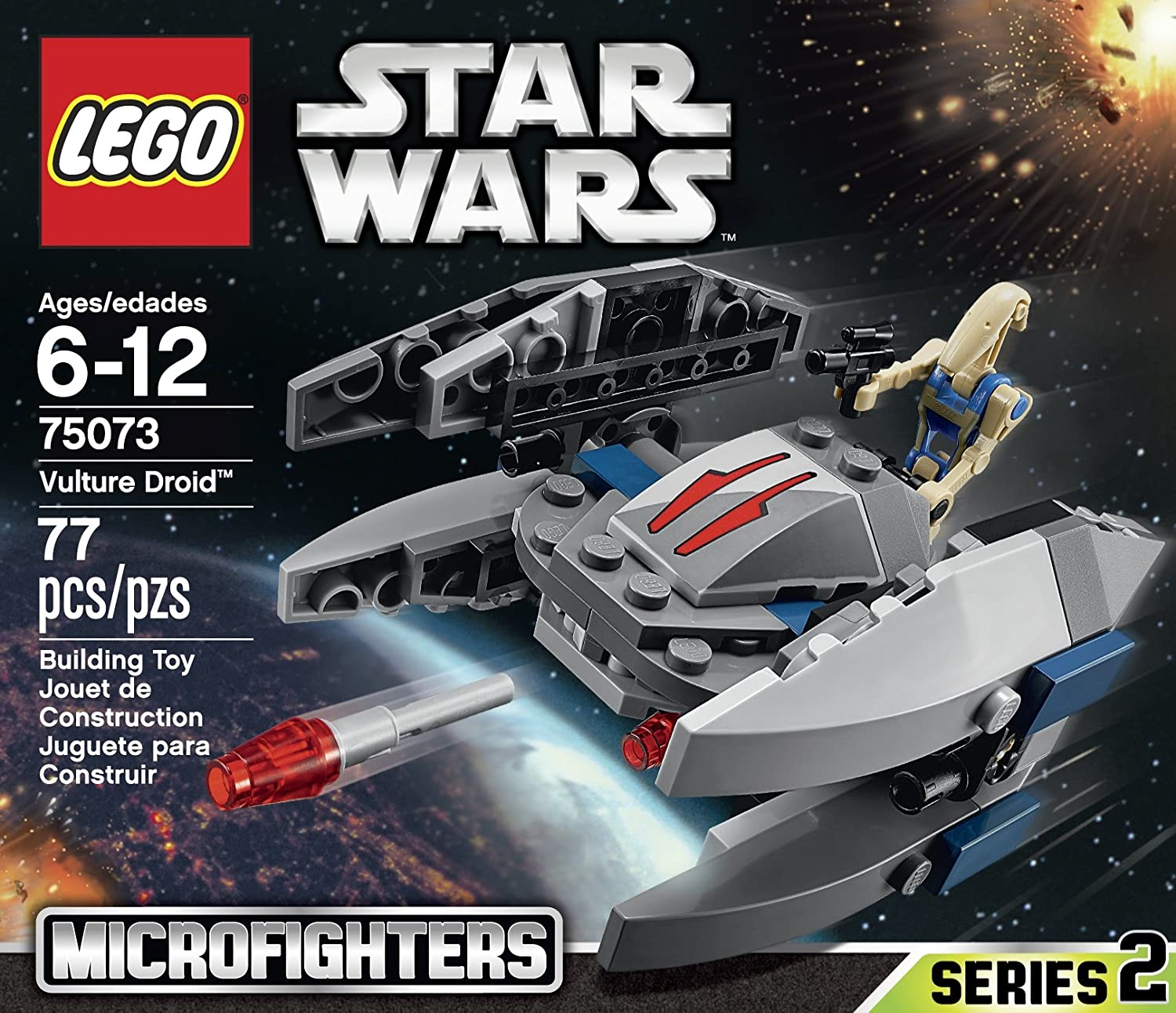 Amazon.com: LEGO, Star Wars microfighters Series 2 Vulture ...