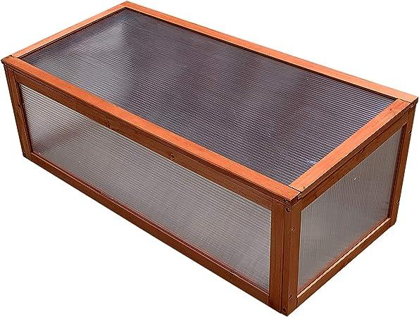 Gardiun KNH1202 - Invernadero de madera y policarbonato Wooden I 95x51x8, 5 cm: Amazon.es: Jardín