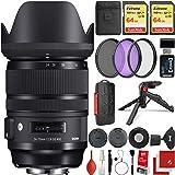 Sigma 24-70mm f/2.8 DG DN Art Lens Sony E-Mount Bundle, 2X 64GB Memory Cards, IR Remote, 3 Piece Filter Kit, Wrist Strap, Car