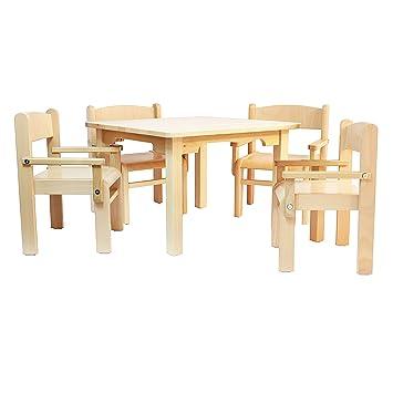 Muebles Para Niños de Madera de La Haya Sólida Natural Barnizada,Una ...