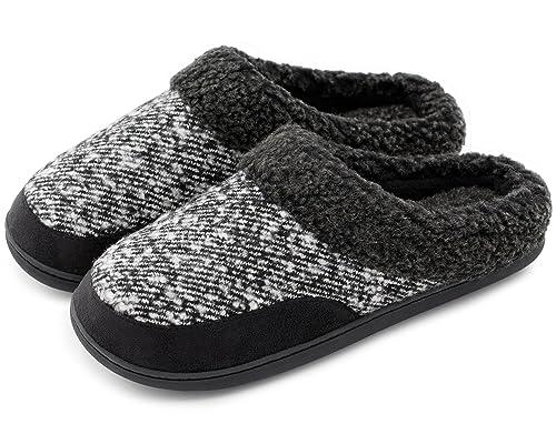 HomeIdeas Zapatillas de estar Por casa Para Hombre Negro Negro: Amazon.es: Zapatos y complementos