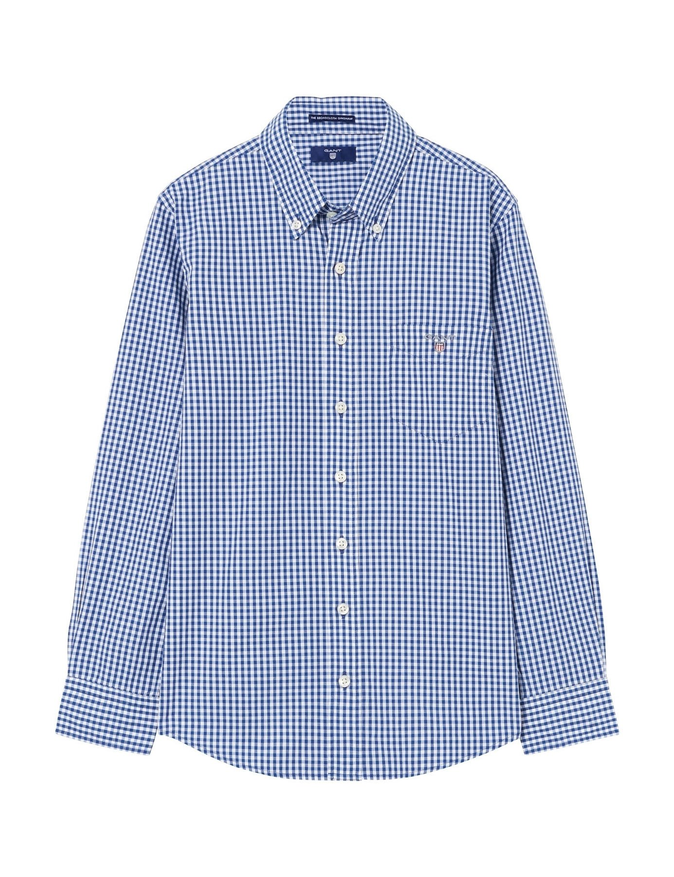 Gant Boy's Blue Checked Shirt in Size 9-10 Years (134-140 cm) Blue