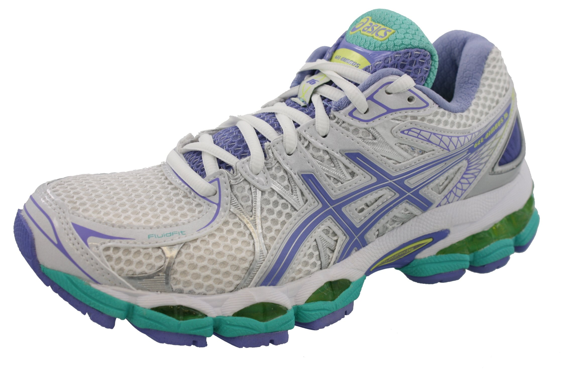 ASICS Women's GEL-Nimbus 16 (2A) Running Shoe,White/Periwinkle/Mint,6 2A US