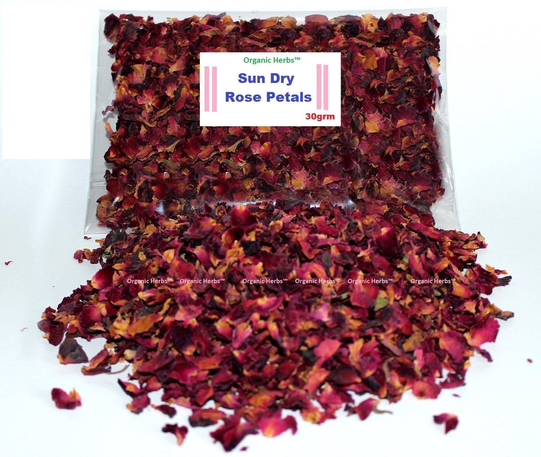 Organic Herbs DRIED RED ROSE PETALS 30g Bag Tea Potpourri Home Decor Herbal Craft Car Perfume