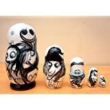 """""""The Nightmare before Christmas"""" Russian Nesting Dolls. Set of 5 piece. Hand-painted in Russia."""