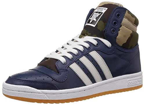 pretty nice ac6af 1b31c adidas Originals Men s Top Ten Hi Navy and White Leather Sneakers - 6 UK   Buy Online at Low Prices in India - Amazon.in