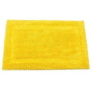 "SHACOS Super Soft Bathroom Rug Bath Mat Microfiber Absorbent Non Slip Door Mat Indoor Doormat Dirt Trapper Machine Washable (20""x32"", Yellow)"