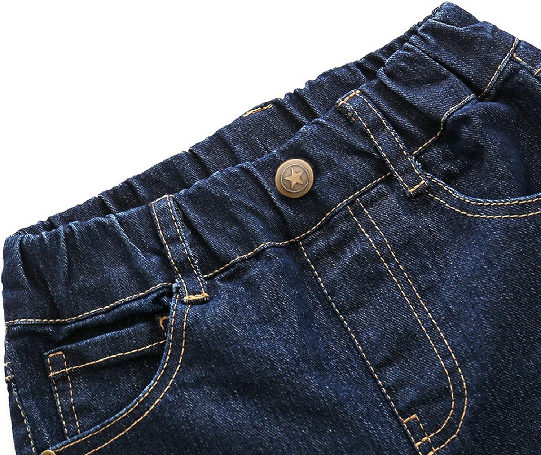 Chic-Chic B/éb/é Pantalon Denim Jean Enfant B/éb/é Fille Gar/çon Sport Casual Long Chaud Confort Souple