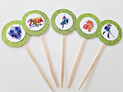 Amazon Set Of 12 Retro Legend Zelda Cupcake Toppers Party