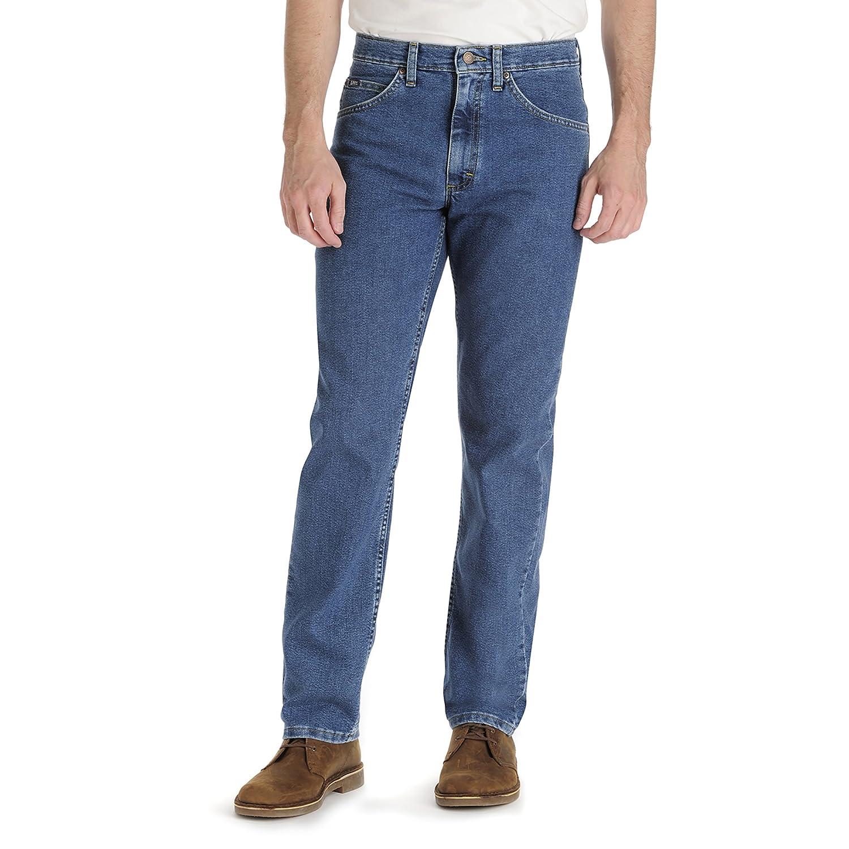 LEE Mens Regular Fit Straight Leg Stretch Jean B/&T