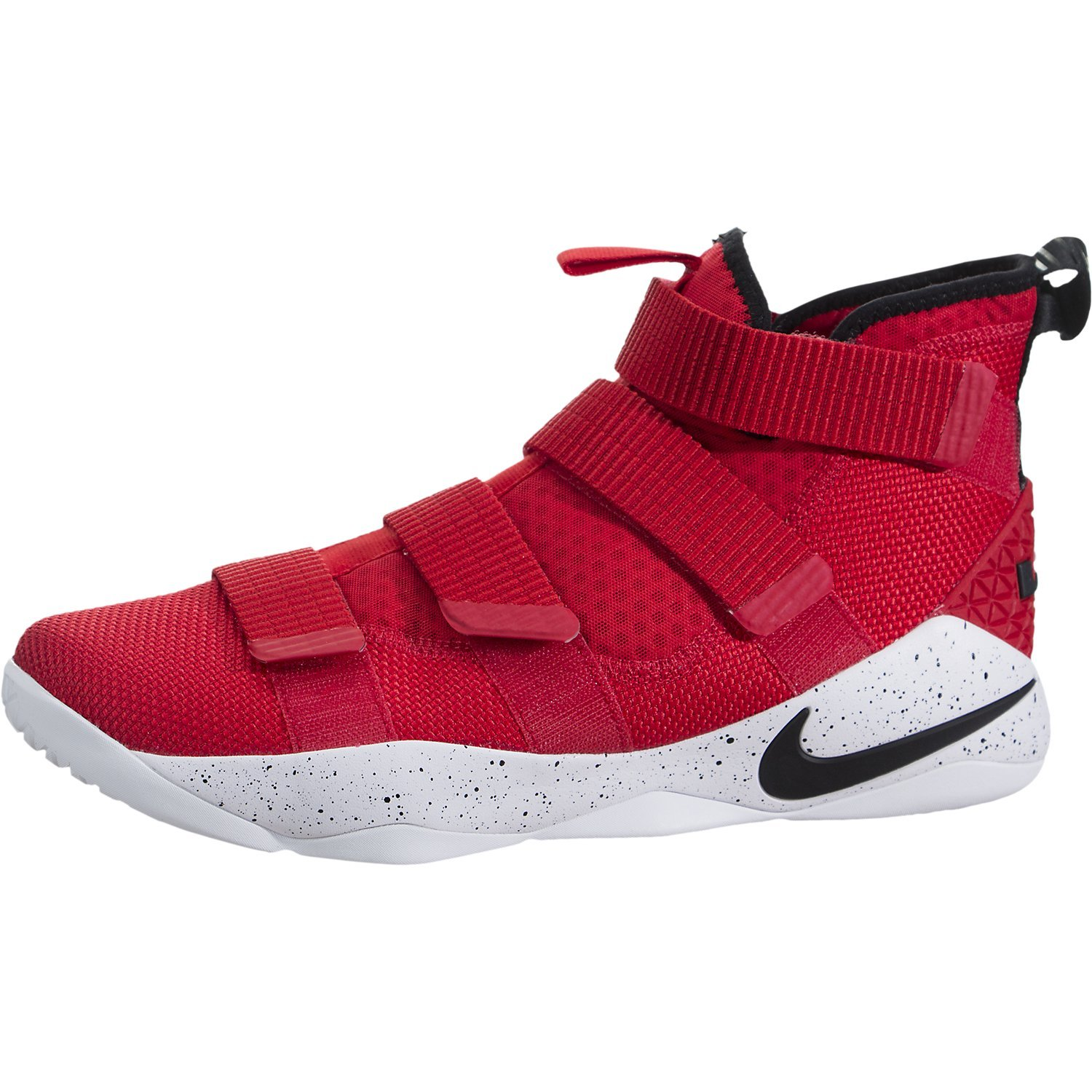 the best attitude 8828a 5d59b Galleon - Nike LeBron Soldier XI 897644-601 Black Red Crimson Men s  Basketball Shoes