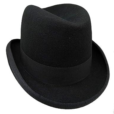 912198e34d1 HATsanity Unisex Vintage Wool Felt Homburg Hat  Amazon.in  Clothing ...