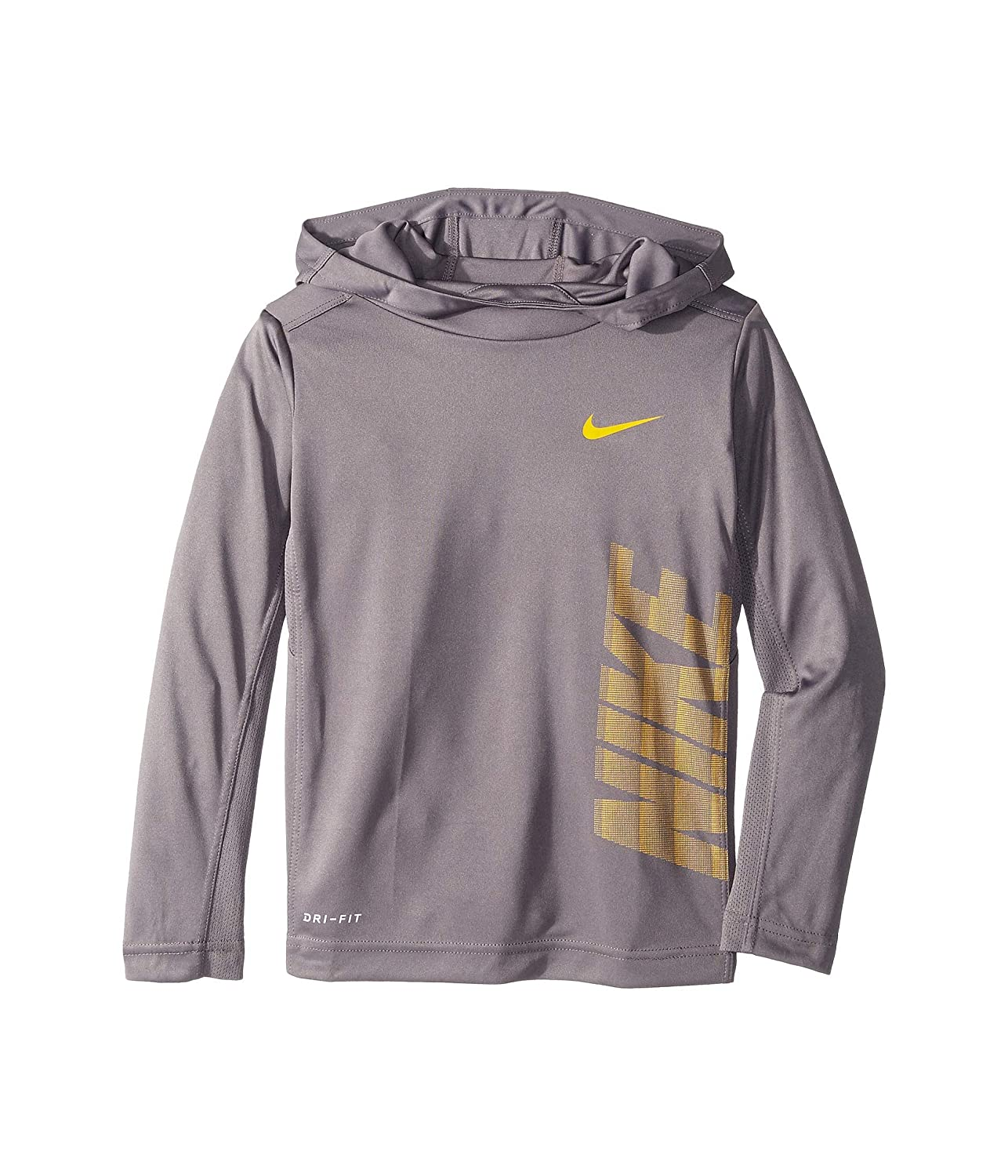 Double Logo Standard Fit Nike Black Multi Sz large Pullover Hoodie Boys