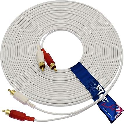 Cable RCA a 2 macho de 5 m audio estéreol para subwoofer ...