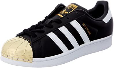 adidas Originals Superstar Metal Toe, Baskets Basses Femme, Noir (Core Black/Footwear