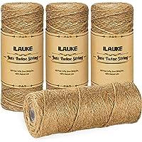 ilauke Jute touw, totaal 1300 voet natuurlijke kerst jute string, 2 mm 3 laags kunst ambachtelijke tuin touw jute touw…