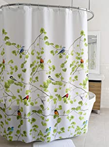 "Splash Home Terrasse Polyester Fabric Shower Curtain, 70"" x 72"", Multi-Colored"