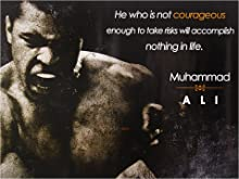 """777 Tri-Seven Entertainment Muhammad Ali Poster Be Courageous Quote Art Print, 18"""" x 24"""""""