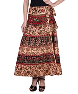 sunrise paridhan Women's Cotton Wrap Around Skirt (SUNKE10, Multicolour, Free Size)