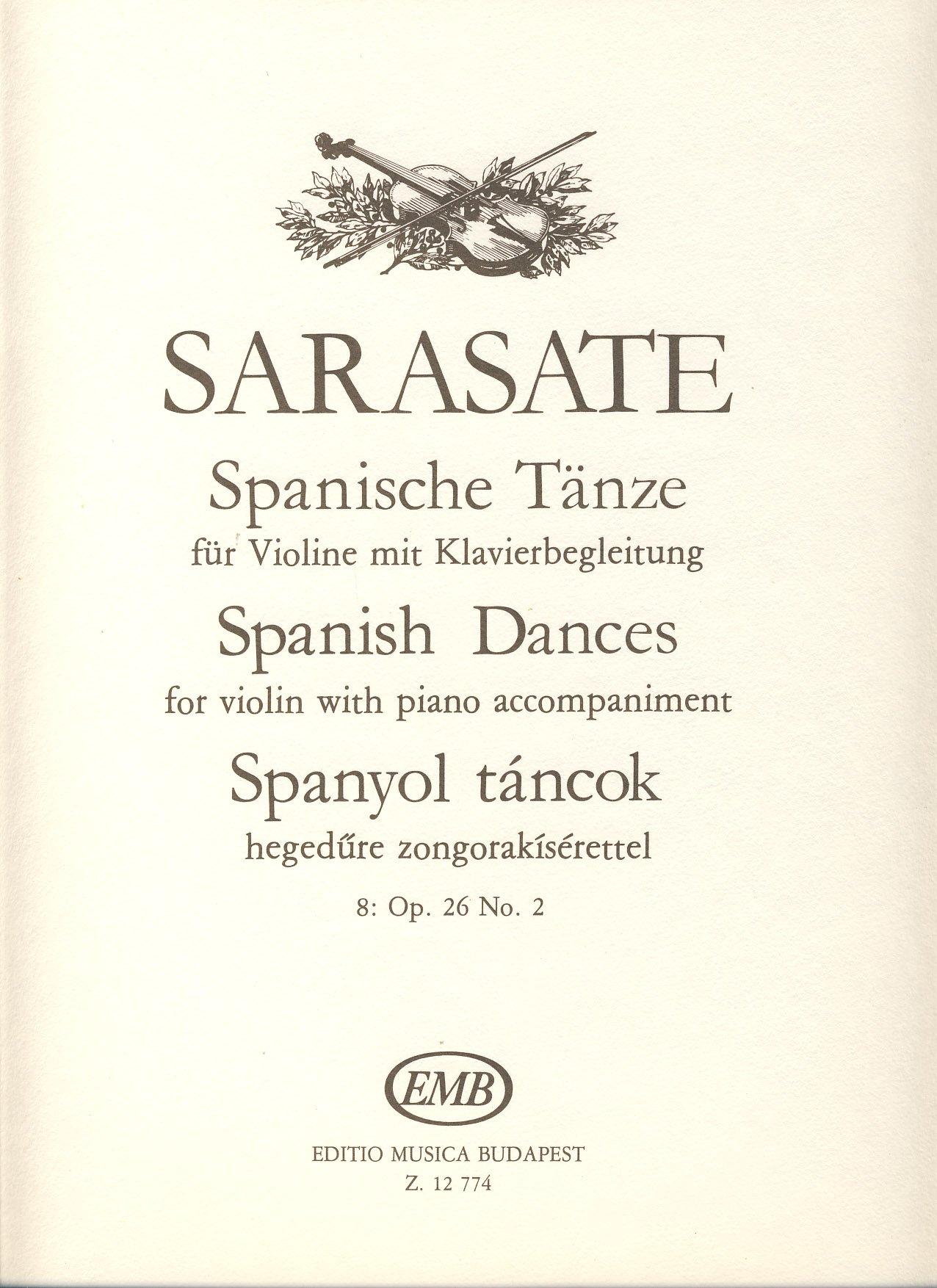 Read Online SARASATE - Danza Española Op.26 nº 2 para Violin y Piano (Szenthelyi) pdf