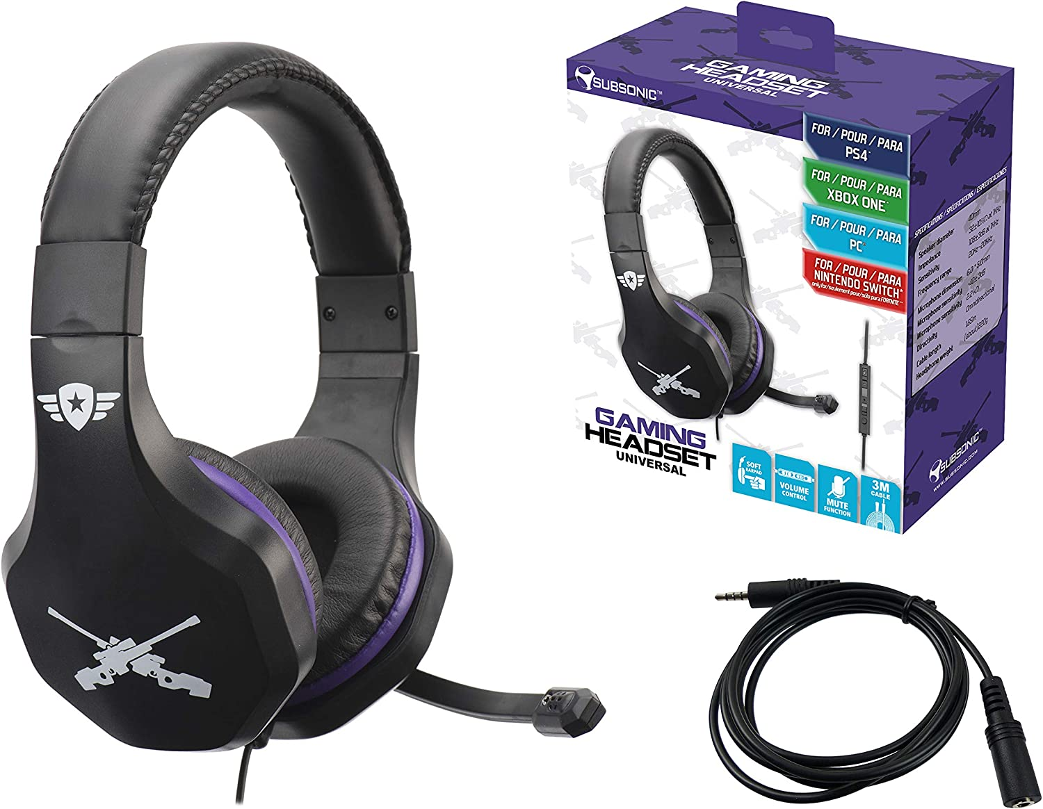 Subsonic - Auriculares con micrófono (PS4 Slim / Pro - Xbox One ...