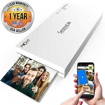 SereneLife PICKIT20 - Impresora de Fotos Portátil Instantánea, Color Inalámbrico, Impresión de Imágenes Desde iPhone, iPad o Android Smartphone Camera: Amazon.es: Electrónica