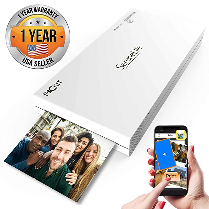 SereneLife PICKIT20 - Impresora de fotos portátil instantánea ...