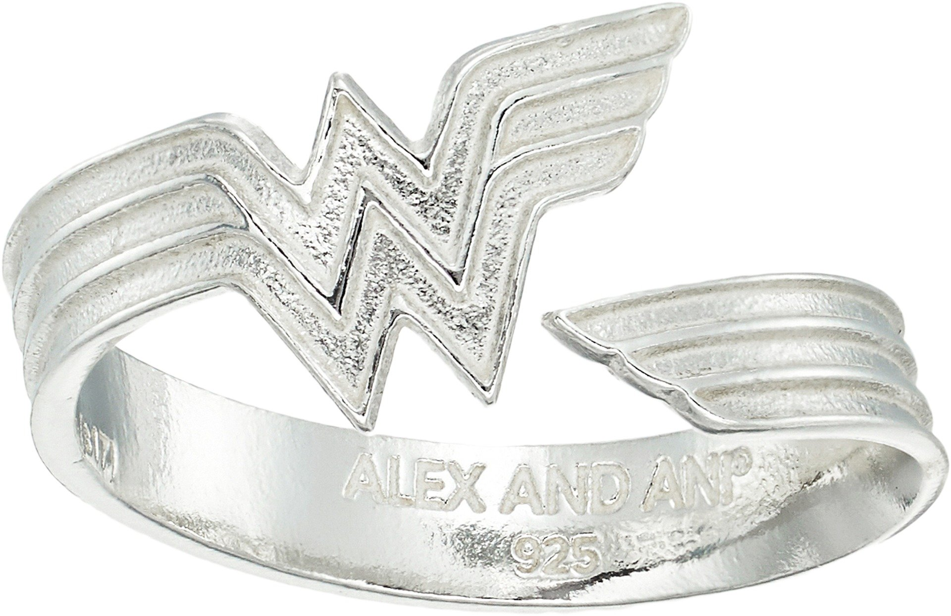 Alex and Ani Women's Wonder Woman Ring Wrap Sterling Silver One Size