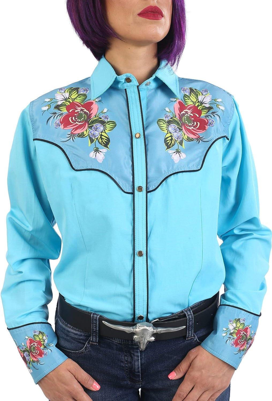 Last Rebels Country - Camisa para mujer, diseño de Western: Amazon.es: Ropa y accesorios