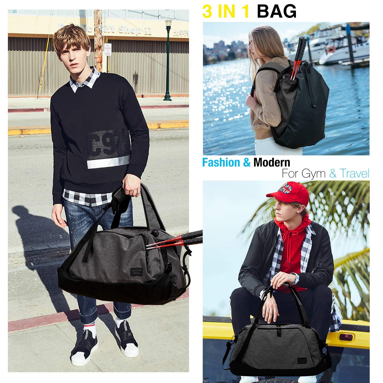 Sac /à Dos de Voyage Unisexe Duffle Bag Design 3 en 1 avec Compartiment pour Chaussures l/éger et r/ésistant /à leau Grand Format 50L ITSHINY Sac de Sport Homme Sac /à bandouli/ère de Sport Femmes
